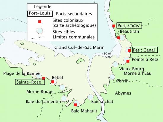 Carte des sites à prospecter